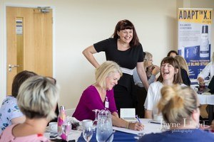 laughing with mandie holgate business and life coach
