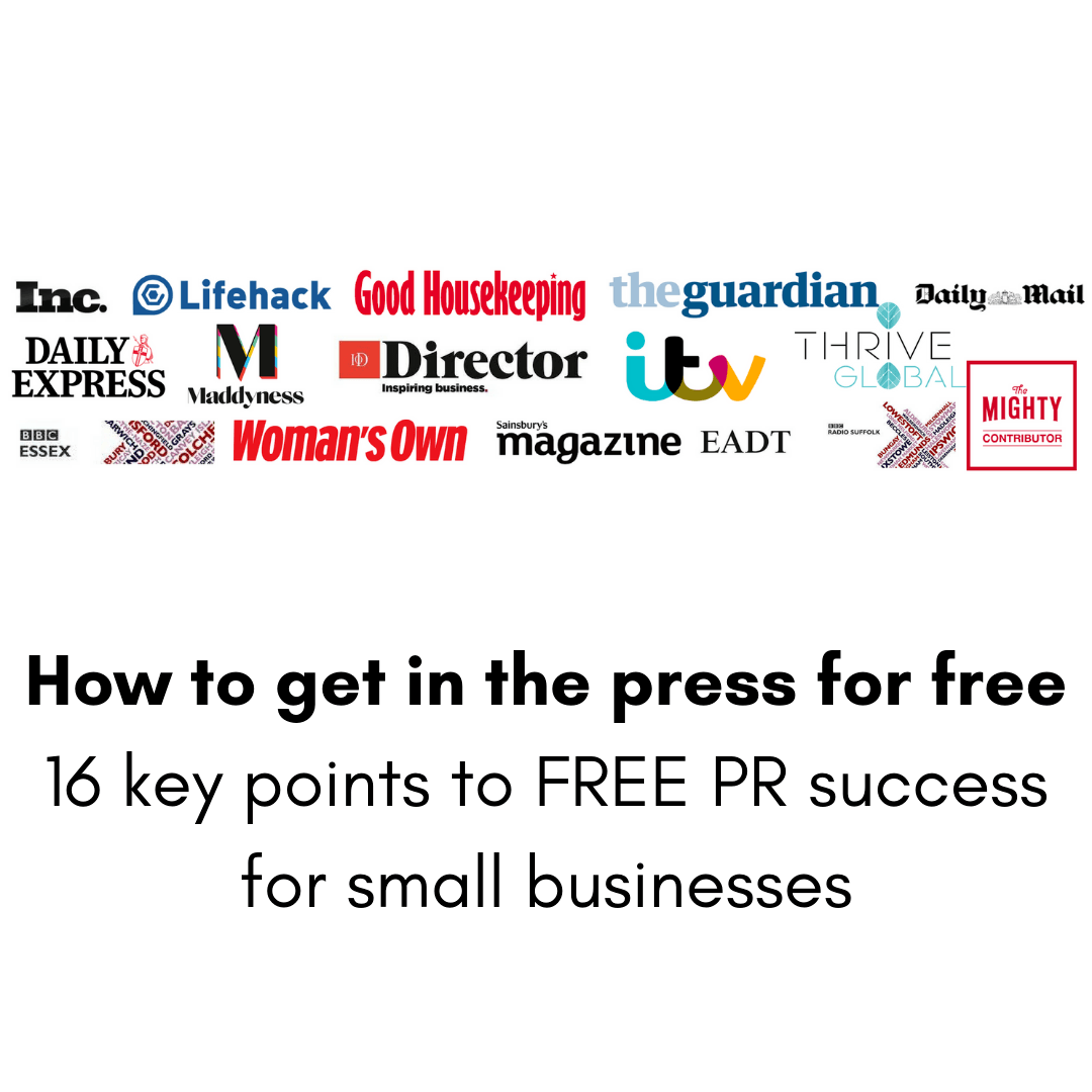 Getting in the press for free for your small business